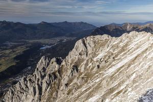 Europe, Germany, Bavaria, Alps, Mountains, Mittenwald, View from Karwendel by Mikolaj Gospodarek