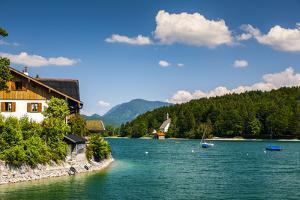 Europe, Germany, Bavaria, Alps, Walchensee by Mikolaj Gospodarek