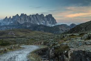 Europe, Italy, Alps, Dolomites, Mountains, Pale di San Martino, View from Col Margherita Park by Mikolaj Gospodarek