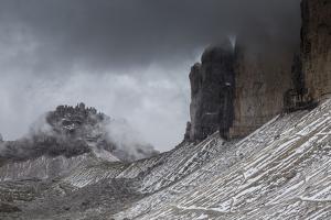 Europe, Italy, Alps, Dolomites, Mountains, Tre Cime di Lavaredo by Mikolaj Gospodarek
