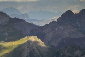 Europe, Italy, Alps, Dolomites, Mountains, View from Col Margherita Park by Mikolaj Gospodarek