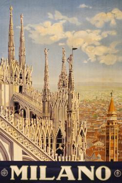 Milano Italy Travel Vintage Ad