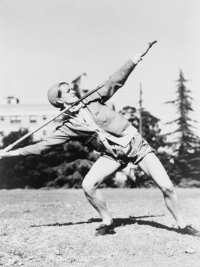 Mildred 'Babe' Didrikson, Winding Up for Javelin Toss at the 1932 Olympics