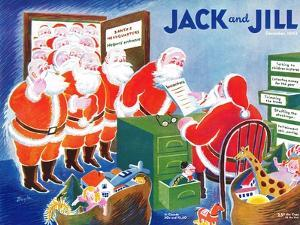 Santa's Helpers - Jack and Jill, December 1942 by Mildred Boyle