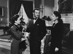 MILDRED PIERCE, 1945 directed by MICHAEL CURTIZ Ann Blyth, Zachary Scott and Joan Crawford (b/w pho