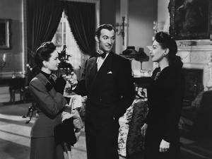 MILDRED PIERCE, 1945 directed by MICHAEL CURTIZ Ann Blyth, Zachary Scott and Joan Crawford (b/w pho