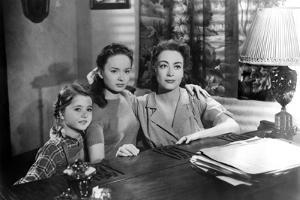 MILDRED PIERCE, 1945 directed by MICHAEL CURTIZ Jo Ann Marlowe, Ann Blyth and Joan Crawford (b/w ph