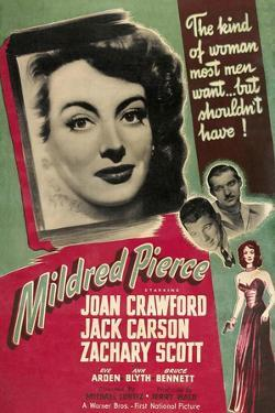 Mildred Pierce, Joan Crawford, Zachary Scott, Jack Carson, 1945