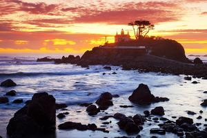 Battery Point Lighthouse at Sunset by Miles
