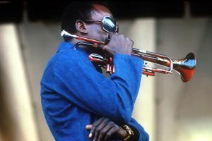 Miles Davis, American Composer and Jazz Trumpet Player, Newport Jazz Festival July 4 1969