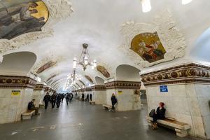 Kiev Metro Station, Moscow, Russia, Europe by Miles Ertman