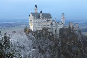 Neuschwanstein Castle in Winter, Fussen, Bavaria, Germany, Europe by Miles Ertman