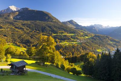 Overview of Berchtesgaden, Bavaria, Germany, Europe by Miles Ertman