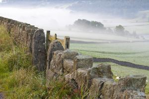 Stone Fence, Burnsall, Yorkshire Dales National Park, Yorkshire, England, United Kingdom, Europe by Miles Ertman