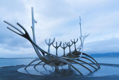Sun-Craft Sculpture, Reykjavik, Iceland, Polar Regions by Miles Ertman