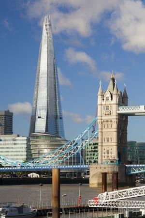The Shard and Tower Bridge, London, England, United Kingdom, Europe by Miles Ertman