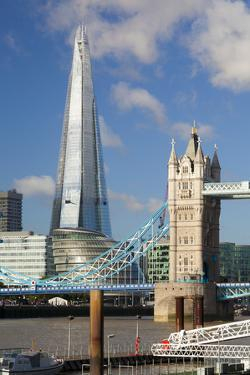 The Shard and Tower Bridge, London, England, United Kingdom, Europe by Miles Ertman