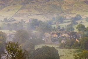 View over Burnsall, Yorkshire Dales National Park, Yorkshire, England, United Kingdom, Europe by Miles Ertman
