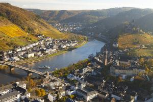 View over Cochem and the Mosel River in Autumn by Miles Ertman
