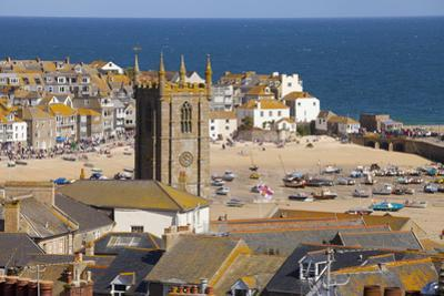 View over St. Ives, Cornwall, England, United Kingdom, Europe by Miles Ertman