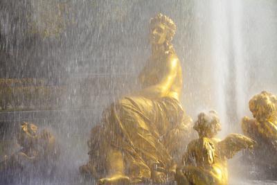 Water Fountain at Linderhof Palace, Bavaria, Germany, Europe