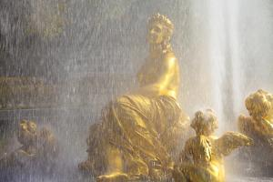 Water Fountain at Linderhof Palace, Bavaria, Germany, Europe by Miles Ertman