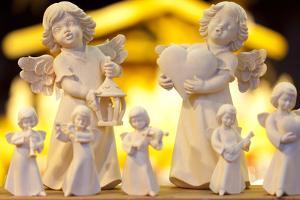 Wooden Christmas Angel Decorations at the Dresden Strietzelmarkt Christmas Market by Miles Ertman