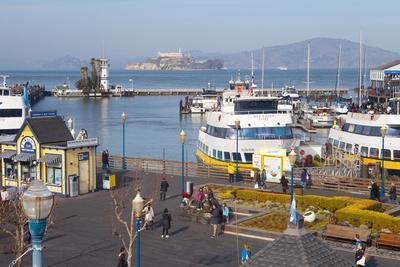 Fisherman's Warf with Alcatraz in the Background