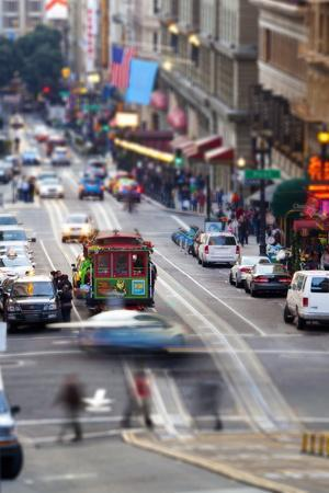 Historic Street Car and Street Scene