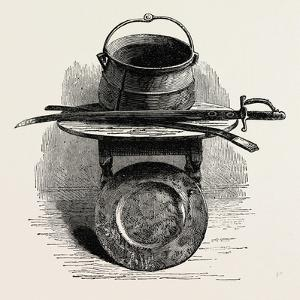 Miles Standish' S Sword, Pot, and Platter, Preserved in Pilgrim Hall, New Plymouth, USA, 1870S