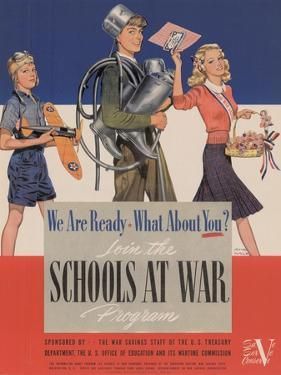 Military and War Posters: We Are Ready, What About You? U.S. Government Printing Office, 1942