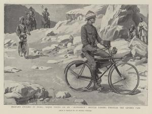 Military Cycling in India, Major Young on an Aldershot Bicycle Passing Through the Kyber Pass