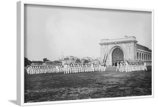 Military Drills at the Naval Academy Grounds--Framed Art Print