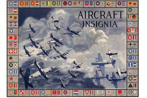 Military Planes of the World Aircraft Insignia WWII War Propaganda Print Plastic Sign