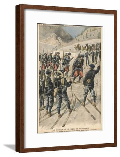 Military Skiers, 1908--Framed Giclee Print