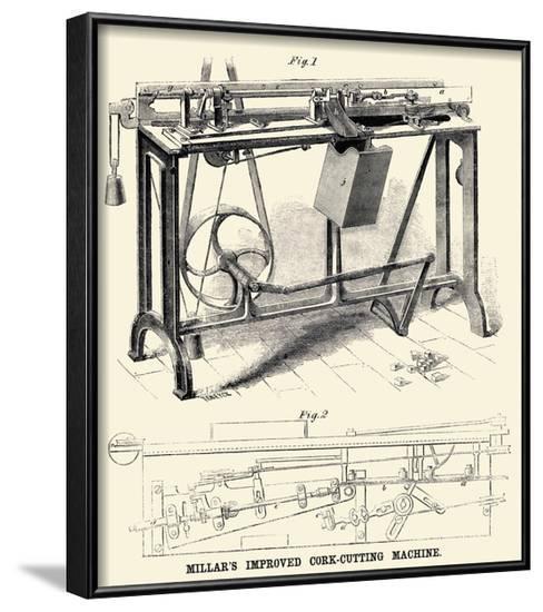 Millar's Improved Cork Cutting Machine--Framed Art Print