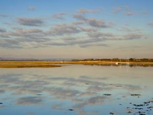 Boats Moored at East Head, West Wittering, Near Chichester, West Sussex, England, United Kingdom by Miller John