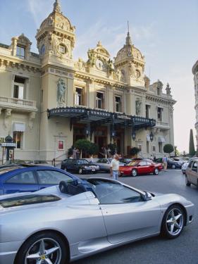 Casino and Ferrari, Monte Carlo, Monaco, Europe by Miller John