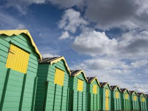 Colourful Beach Huts, Littlehampton, West Sussex, England, United Kingdom, Europe by Miller John