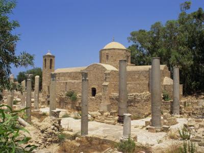 Columns and Ruins at St. Pauls Church, Paphos, Cyprus, Europe