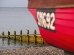 Fishing Boat, Worthing Beach, West Sussex, England, United Kingdom, Europe by Miller John