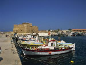 Fishing Boats in the Harbour at Paphos, Cyprus, Mediterranean, Europe by Miller John