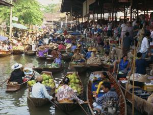 Floating Market, Thailand, Southeast Asia by Miller John