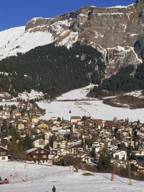 Ski Resort of Flims in Winter with Snow on the Ground in the Graubunden Region of Switzerland by Miller John