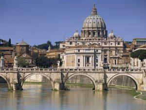 St. Peters and River Tiber, Rome, Lazio, Italy, Europe by Miller John