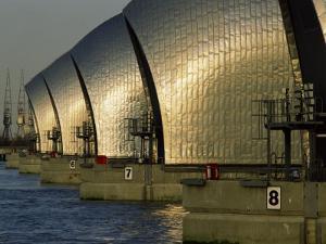 Thames Flood Barrier, Woolwich, Near Greenwich, London, England, United Kingdom, Europe by Miller John