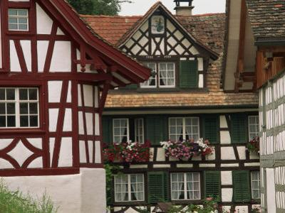 Timber Framed Houses Near Konstanz in the Thurgau Region of Switzerland, Europe