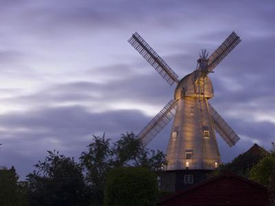 Union Mill at Dusk, Cranbrook, Kent, England, United Kingdom, Europe