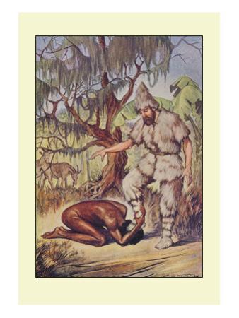 Robinson Crusoe: He Lays His Head Flat on the Ground