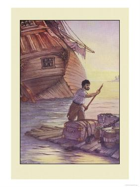 Robinson Crusoe: With This Cargo I Put to Sea by Milo Winter